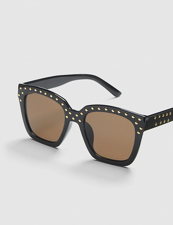Embellished Cateye Sunglasses - Black