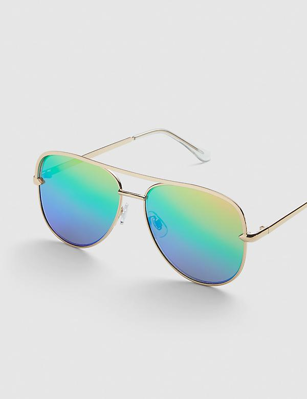 Aviator Sunglasses - Rainbow