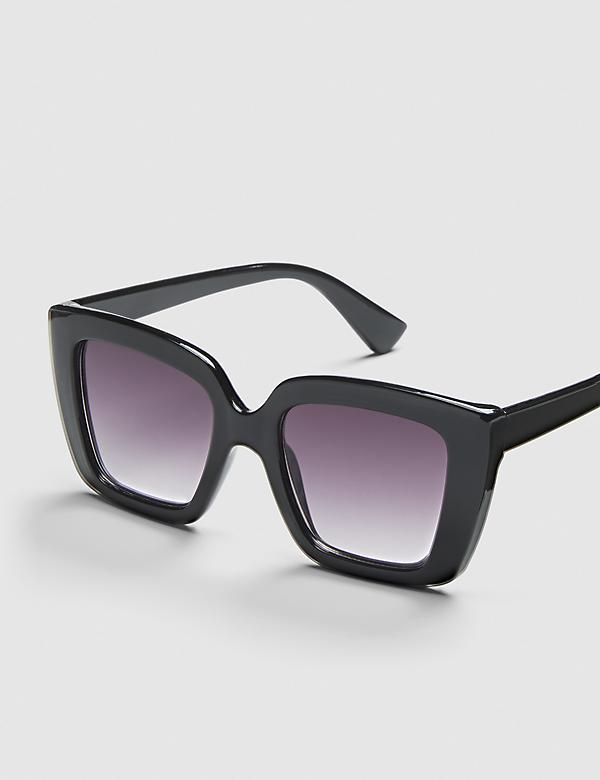 Square Sunglasses - Black