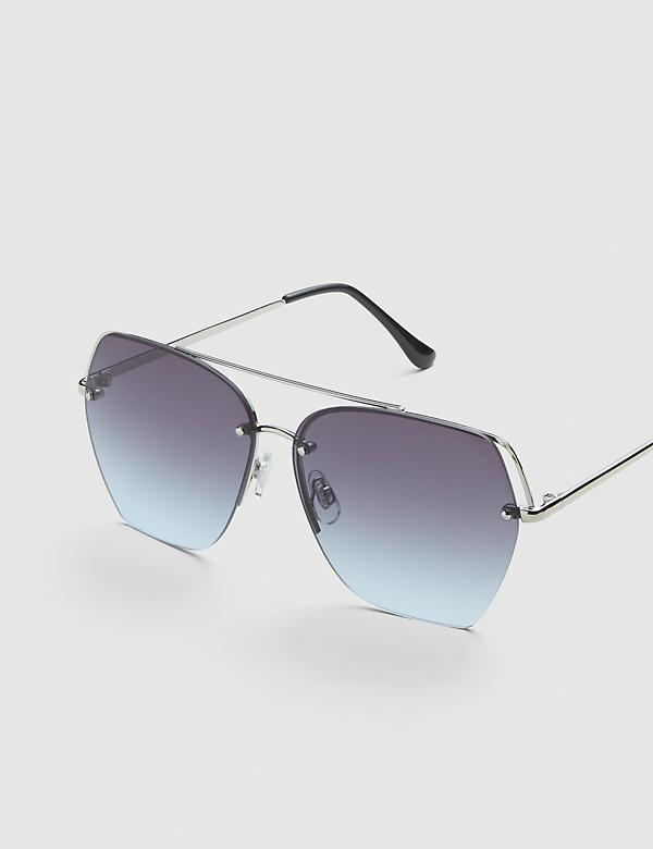Aviator Sunglasses - Silvertone