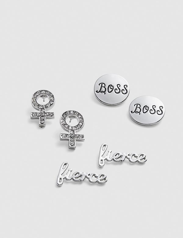 Fierce Stud Earrings - 3-Pack