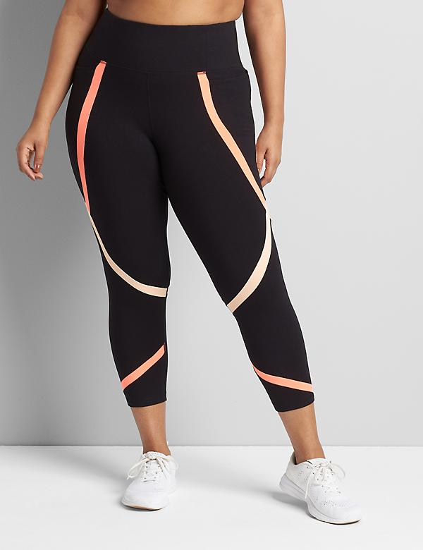 LIVI Power Legging With Wicking - Colorblock