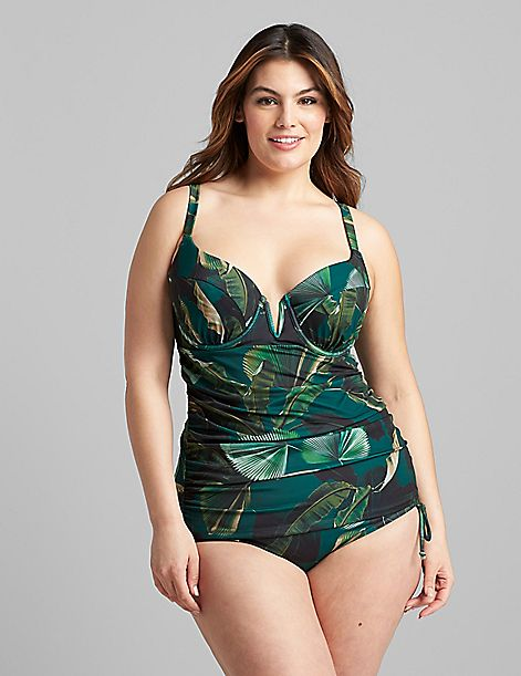 Eco-Friendly Fitted Underwire Swim Tankini Top