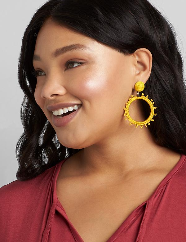 Thread-Wrapped Hoop Earrings