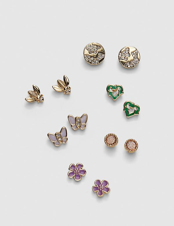 Make Earth Day Every Day Stud Earrings - 6-Pack