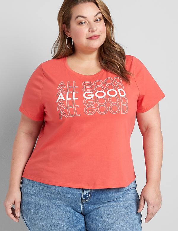Eco-Friendly All Good Graphic Crop Tee