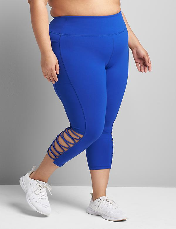 LIVI High-Rise Wicking Capri Legging - Strappy Hem