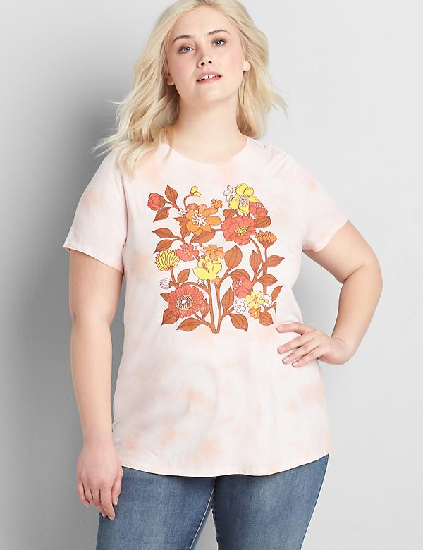 Eco-Friendly Tie-Dye Floral Graphic Tee