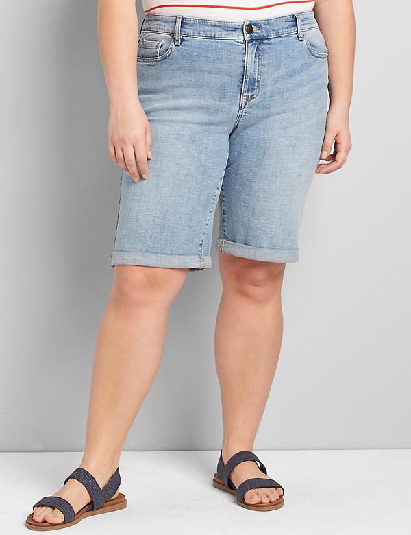 Lane Essentials Venezia Denim Bermuda Short - Light Wash