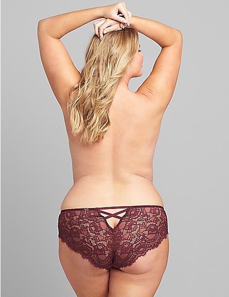 Strappy-Back Lace Cheeky
