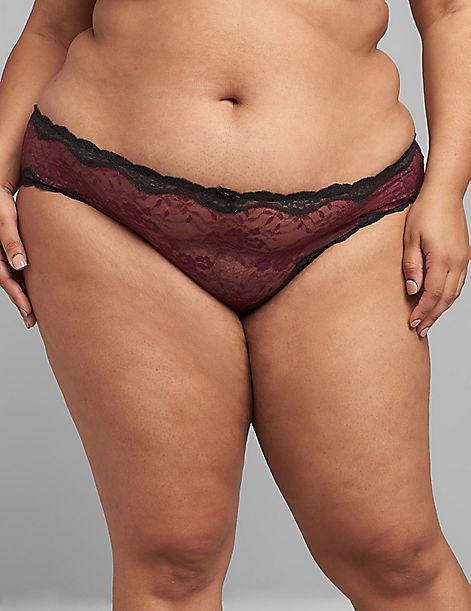 Lace Strappy-Back Cheeky Panty