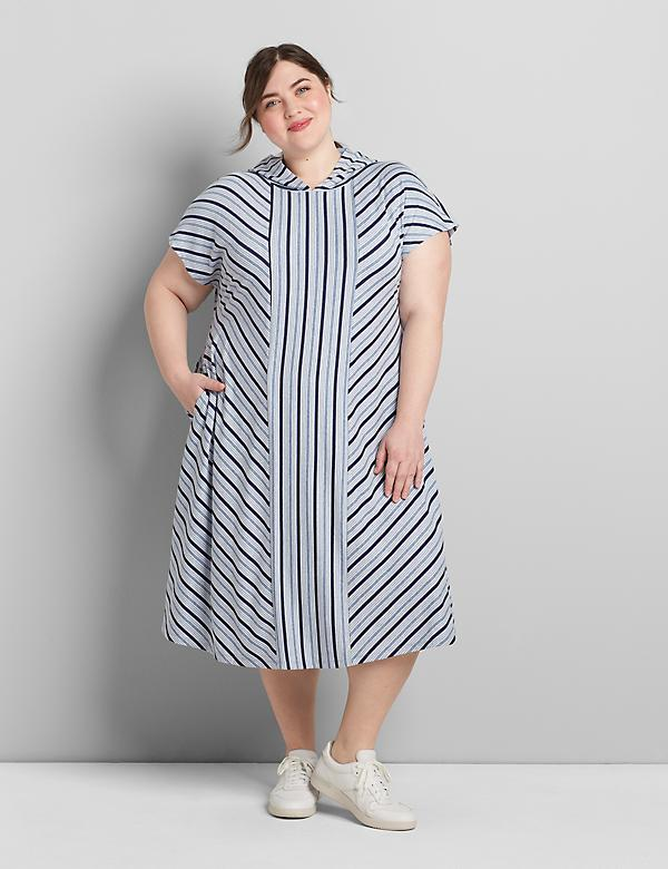 LIVI Striped Hooded Dress
