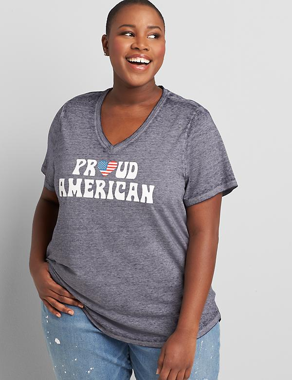 Proud American Graphic High-Low Tee