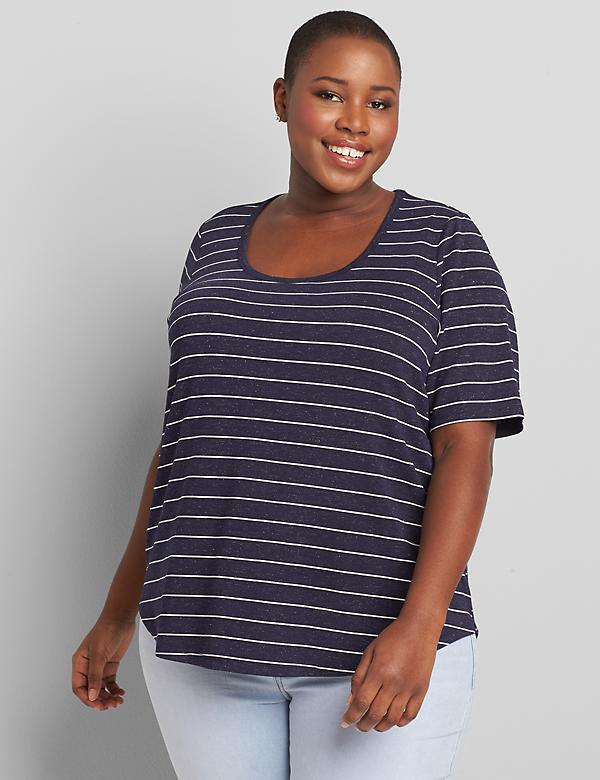 Perfect Sleeve Curved-Hem Tee