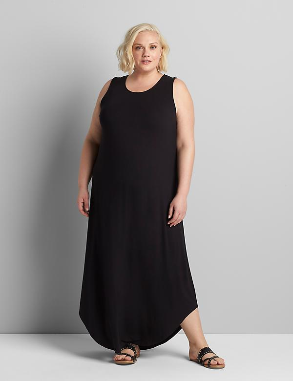Lane Essentials Curve-Hem Knit Maxi Dress