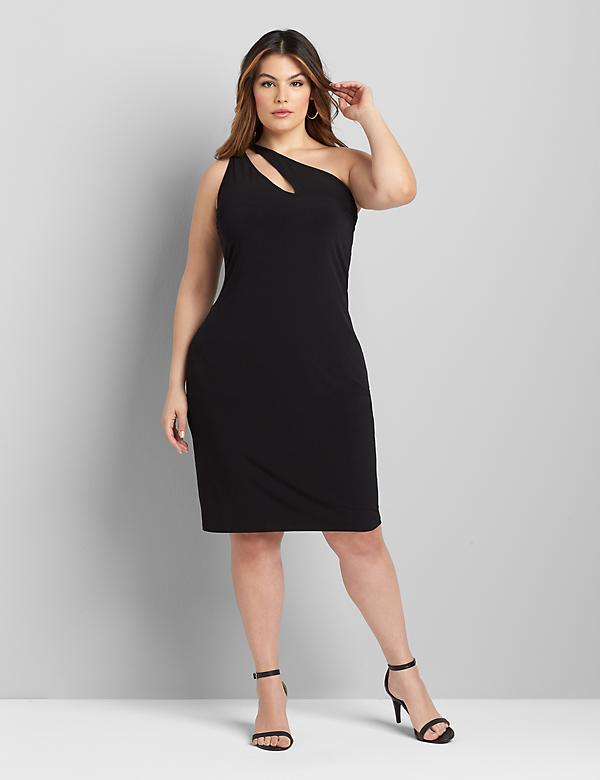 One-Shoulder Sheath Dress Dress