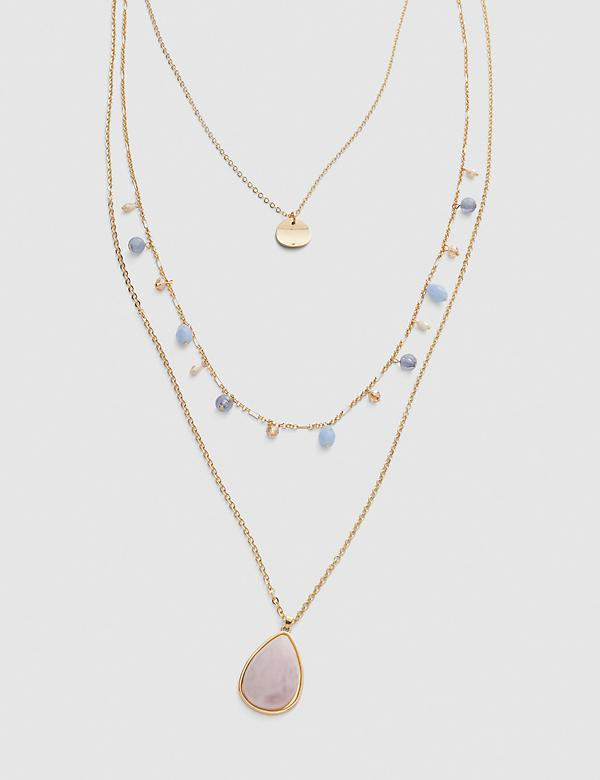 Convertible Multi-Strand Necklace - Seashell Pink