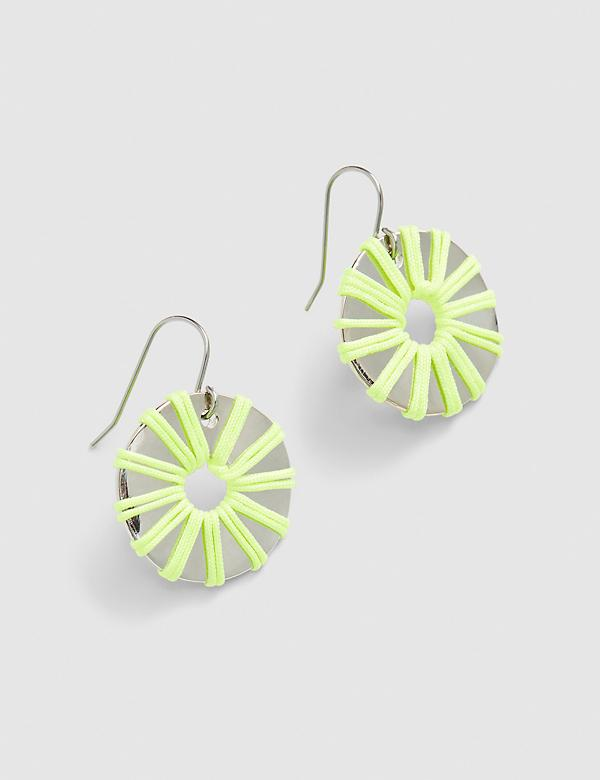Day Glow Thread Wrapped Drop Earrings