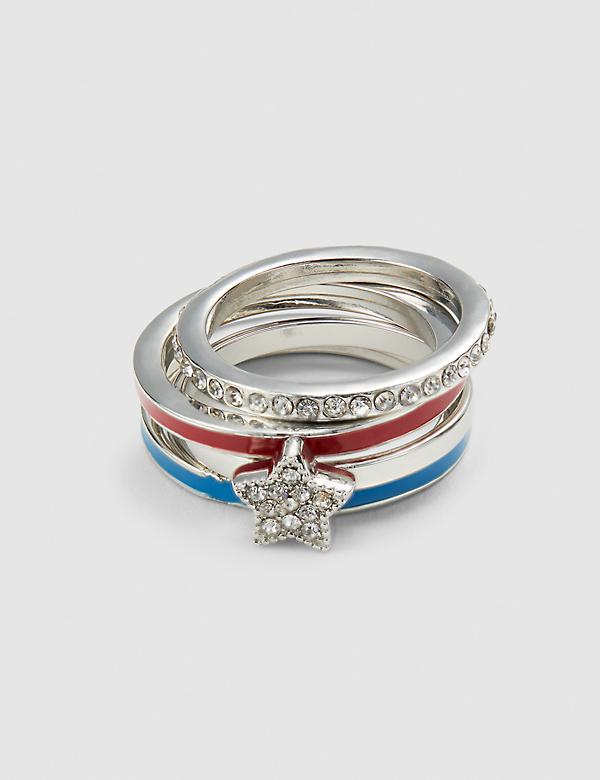 Americana Stackable Rings - 4 Pack