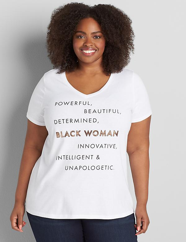 Powerful Beautiful Determined Graphic Tee