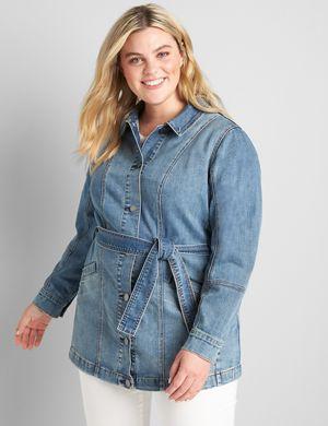 lanebryant.com-belted-denim-jacket