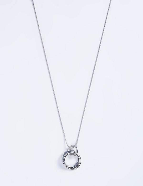 Circle trio silvertone necklace by Lane Bryant