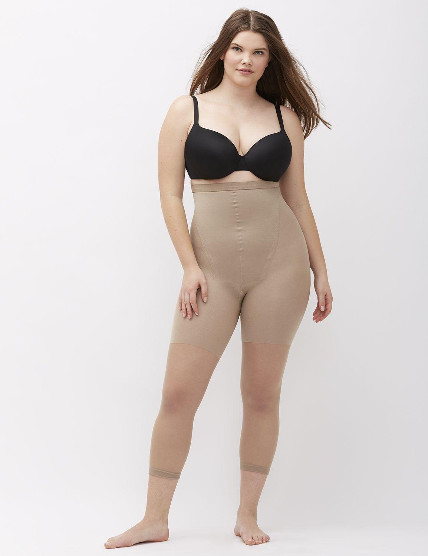 lane bryant women's spanx higher power capri d nude